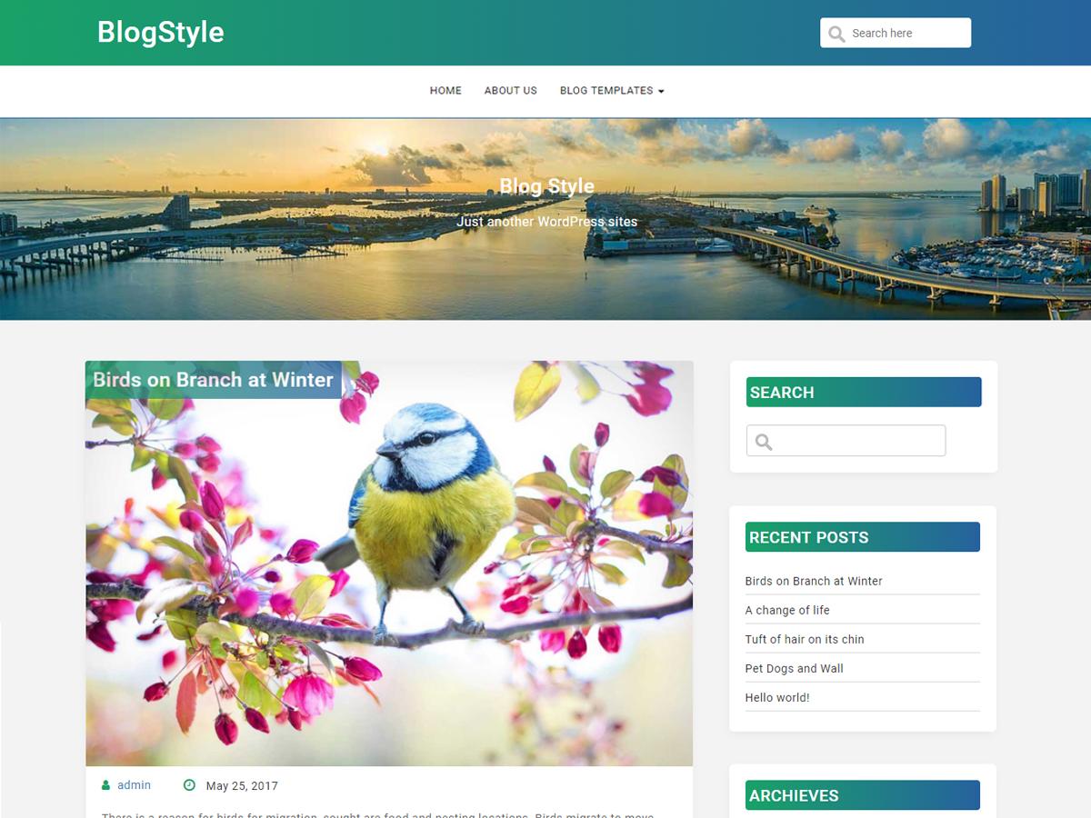 BlogStyle Download Free Wordpress Theme 5