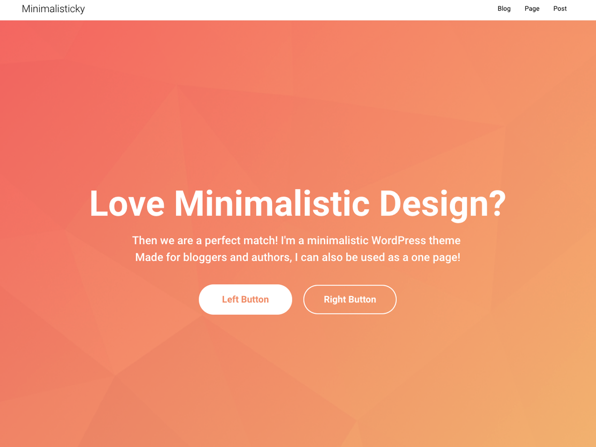 Minimalisticky Download Free Wordpress Theme 2