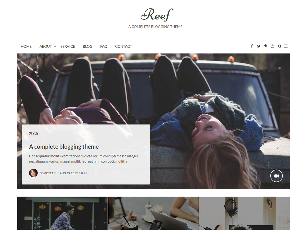 Reef Download Free Wordpress Theme 2
