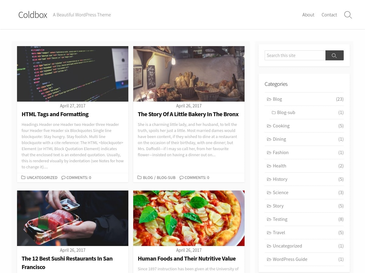 Coldbox Download Free Wordpress Theme 1