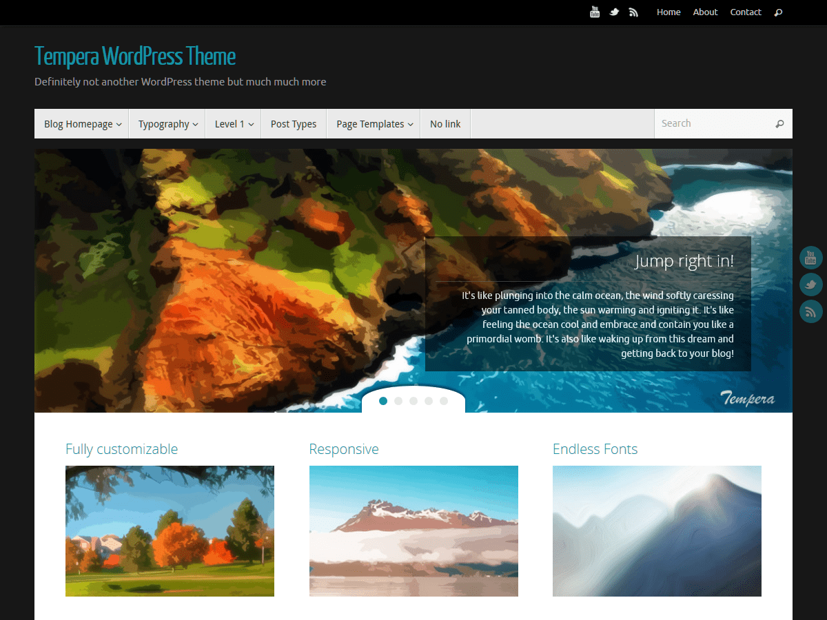 Tempera Download Free Wordpress Theme 5