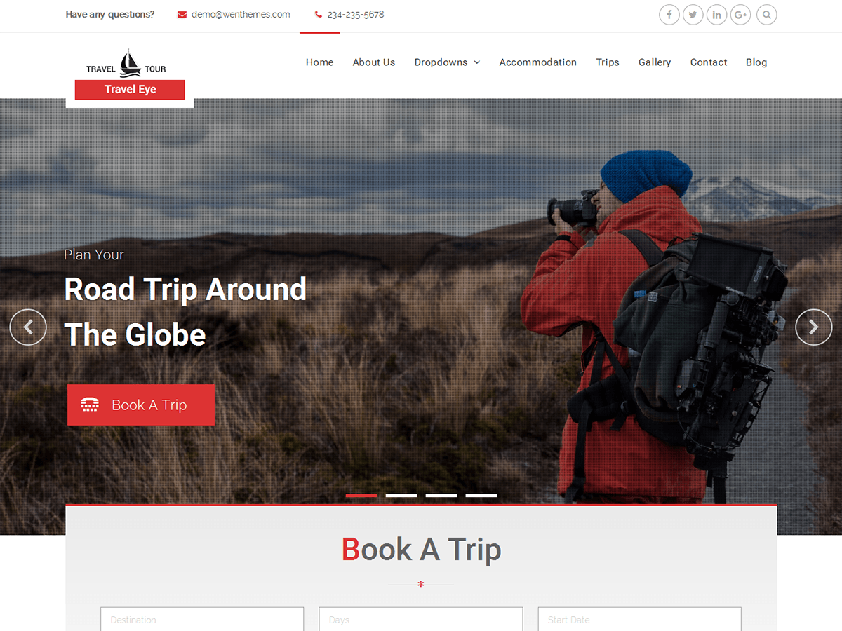 Travel Eye Download Free Wordpress Theme 1