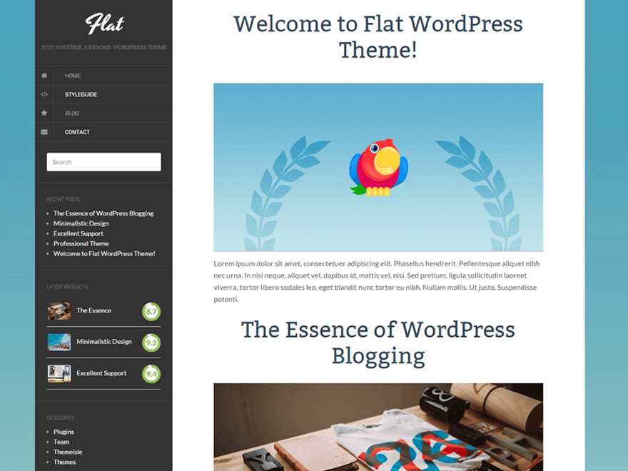 Flat Download Free Wordpress Theme 5