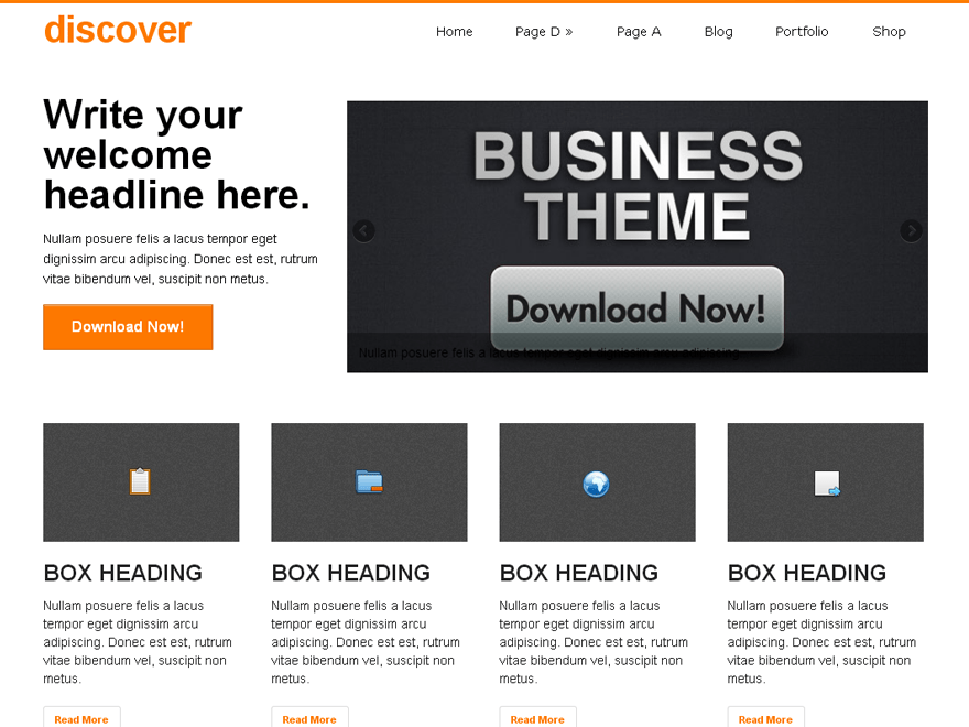 discover Download Free Wordpress Theme 2