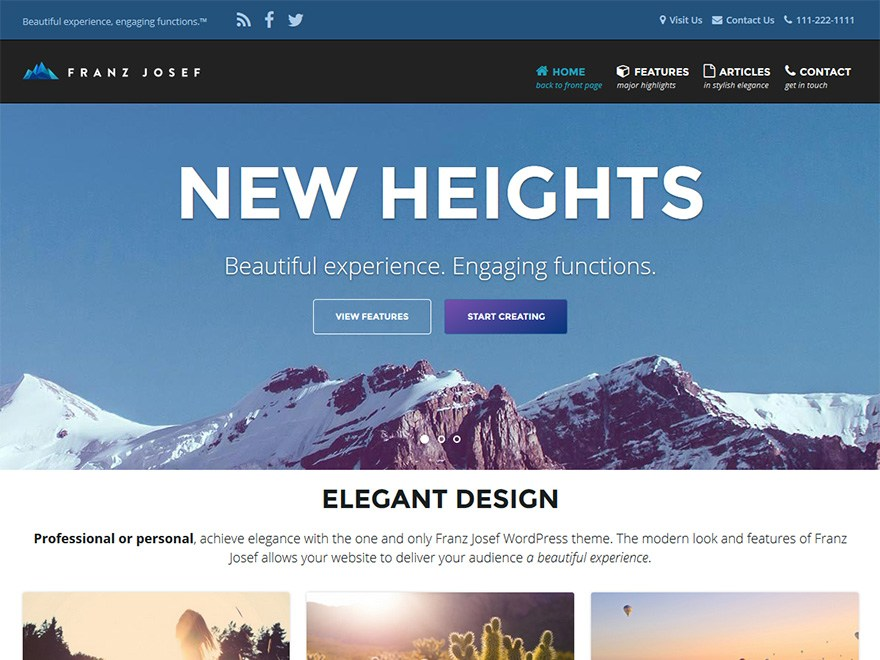 Franz Josef Download Free Wordpress Theme 3