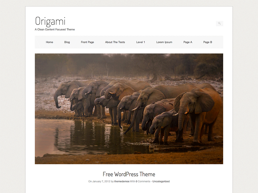 Origami Download Free Wordpress Theme 4