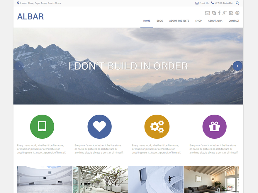 Albar Download Free Wordpress Theme 2