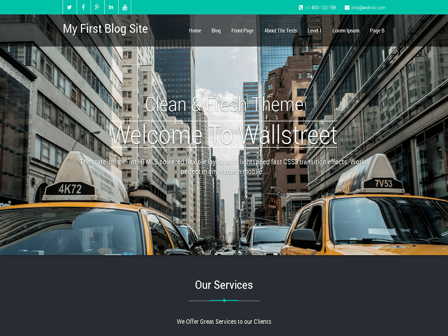 Wallstreet Download Free Wordpress Theme 1