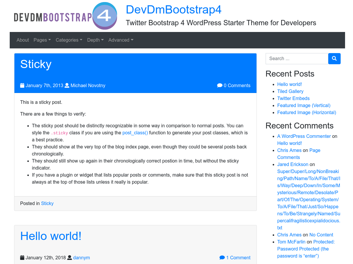devdmbootstrap4 Download Free Wordpress Theme 2