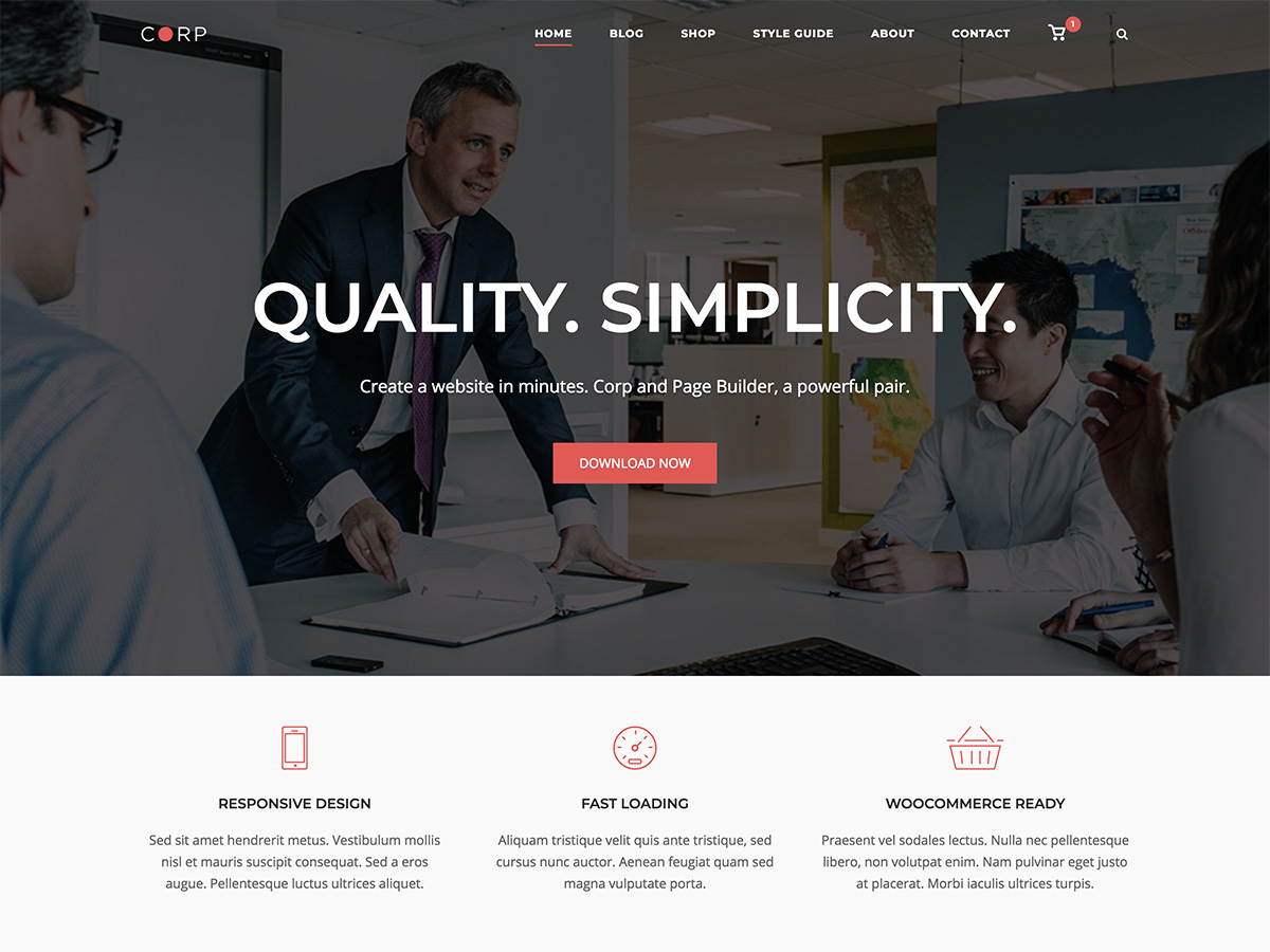SiteOrigin Corp Download Free Wordpress Theme 3