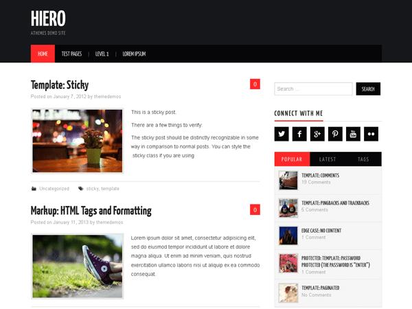 Hiero Download Free Wordpress Theme 2