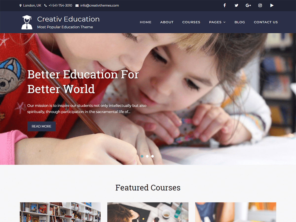 Creativ Education Download Free Wordpress Theme 1