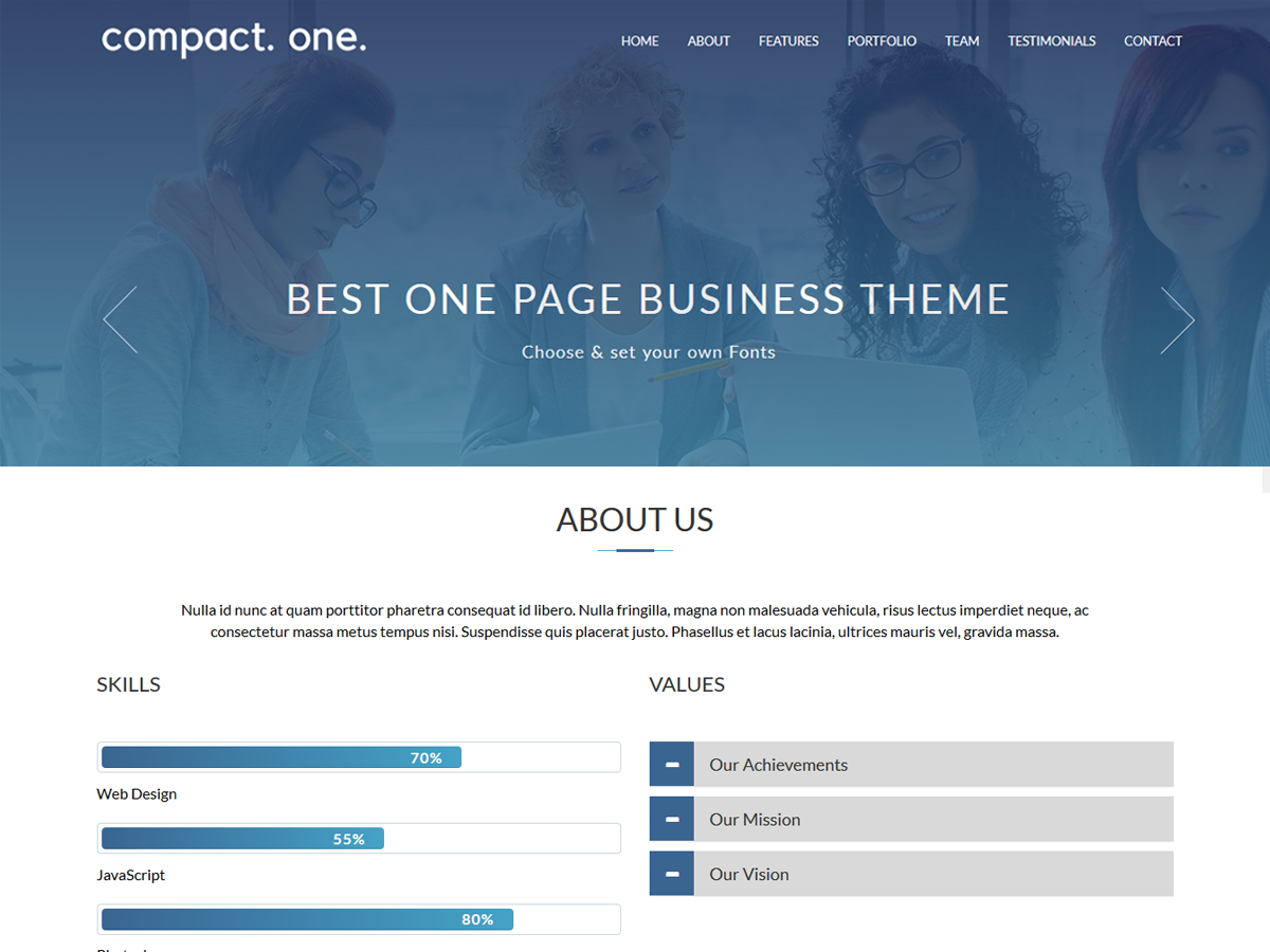 Compact One Download Free Wordpress Theme 2