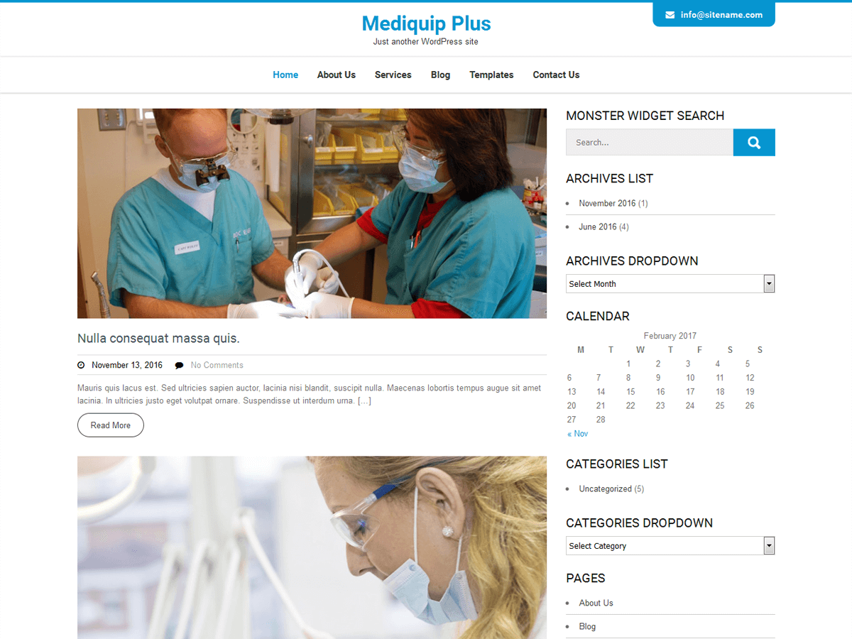 Mediquip Plus Download Free Wordpress Theme 2