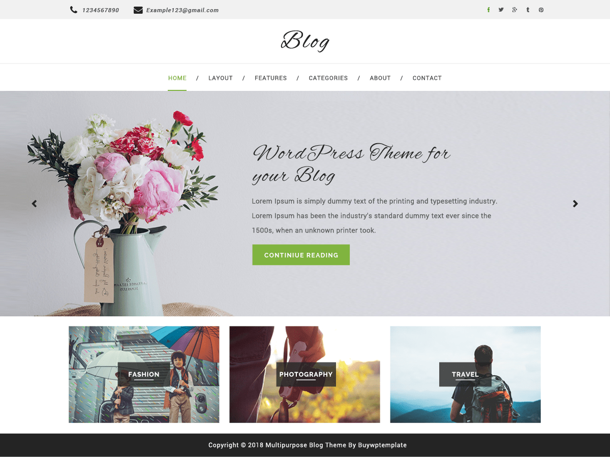 Multipurpose Blog Download Free Wordpress Theme 3