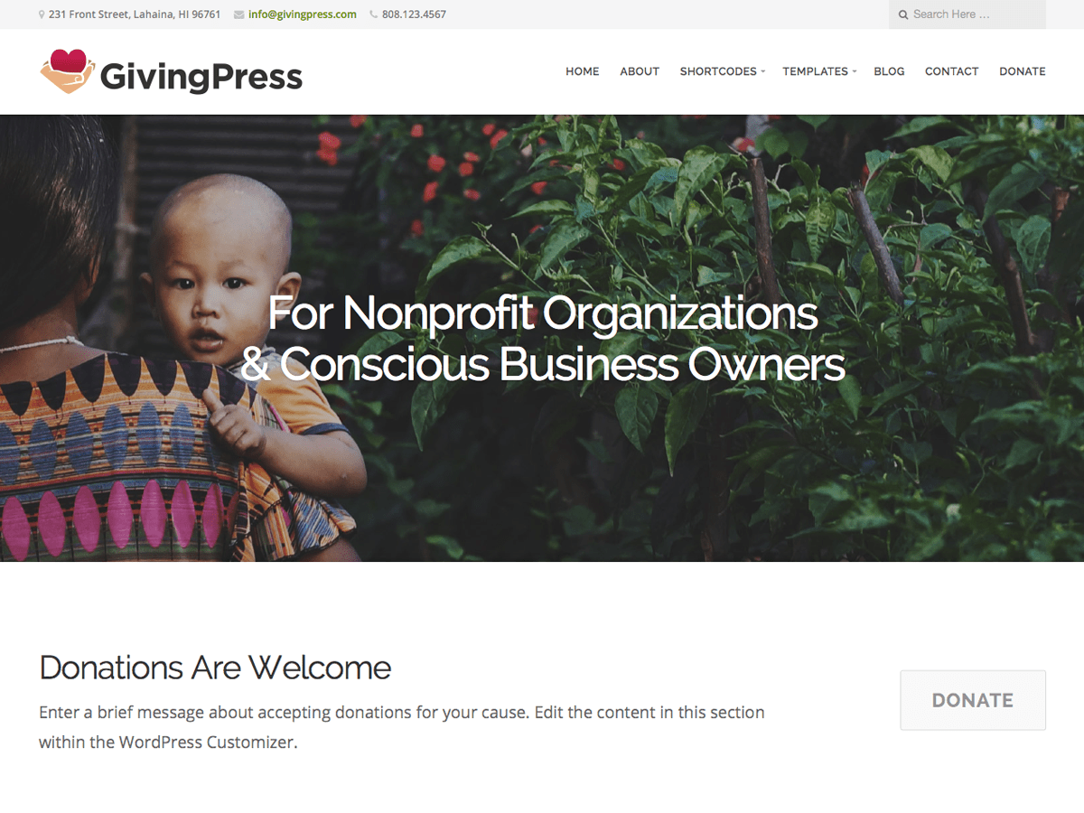 GivingPress Lite Download Free Wordpress Theme 3