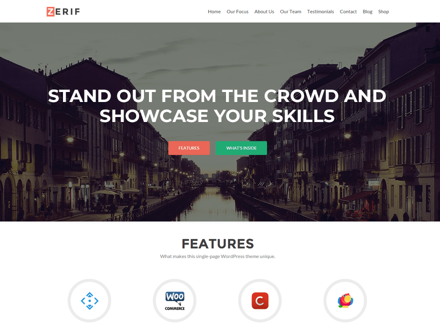 Zerif Lite Download Free Wordpress Theme 1
