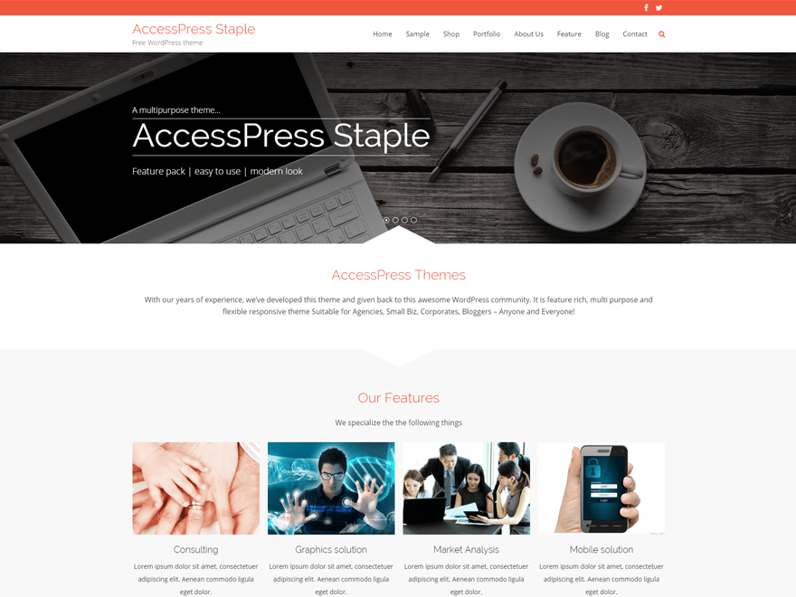 AccessPress Staple Download Free Wordpress Theme 1