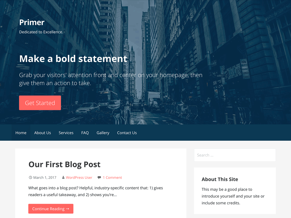 Primer Download Free Wordpress Theme 3