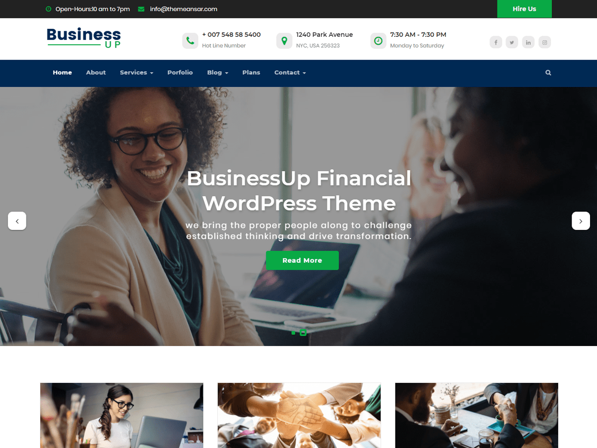 Businessup Download Free Wordpress Theme 4