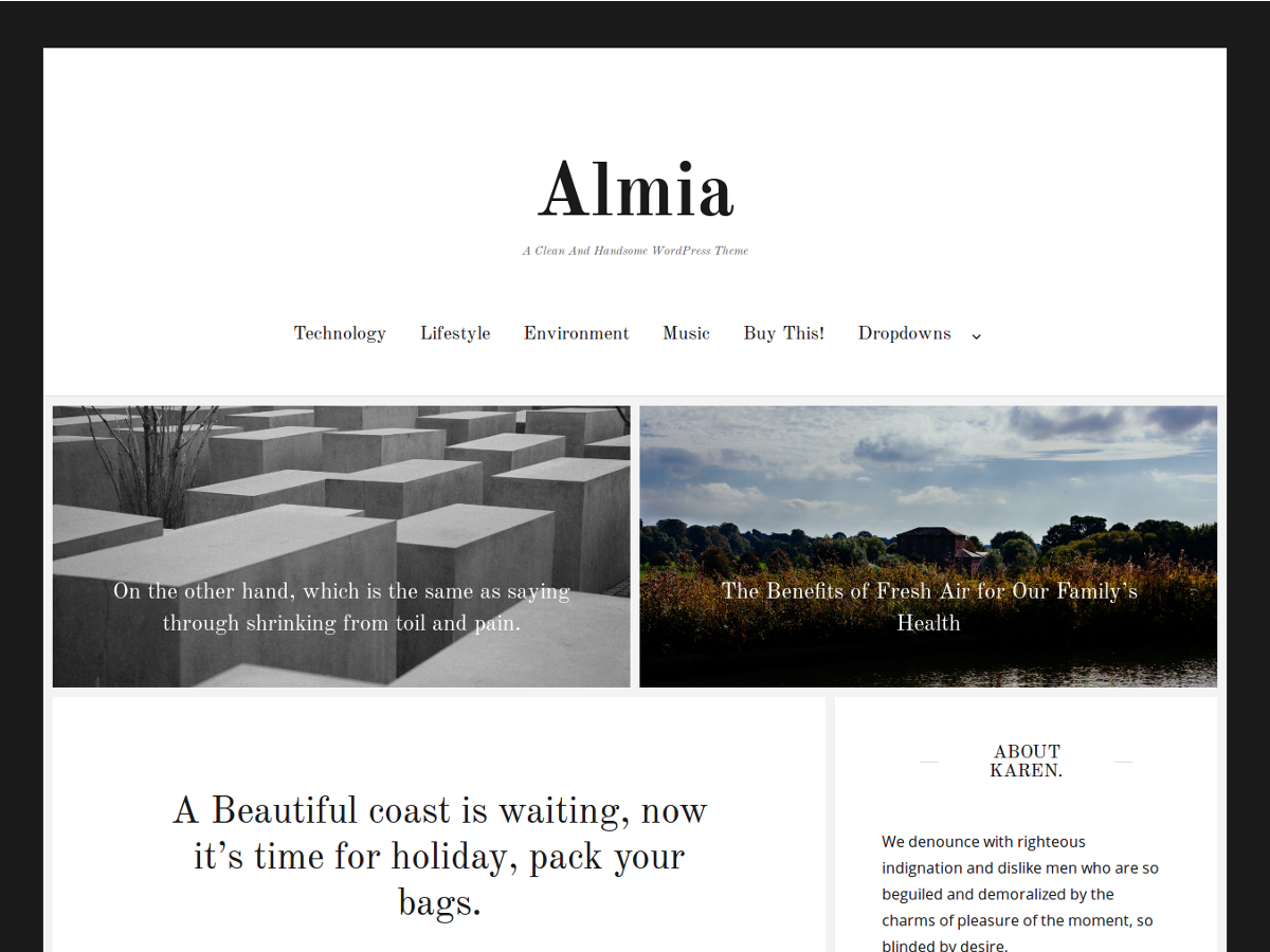 Almia Download Free Wordpress Theme 5