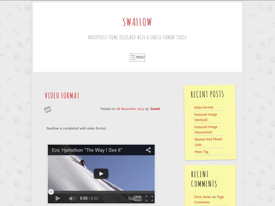 swallow Download Free Wordpress Theme 1