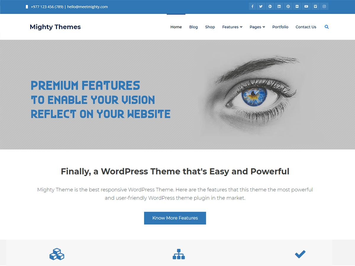 Mighty Download Free Wordpress Theme 2