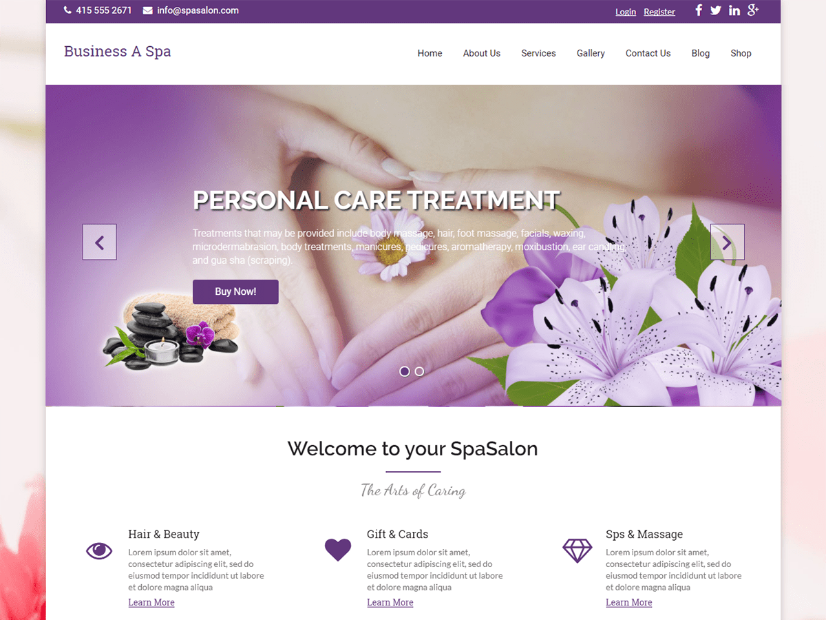 Business A Spa Download Free Wordpress Theme 1
