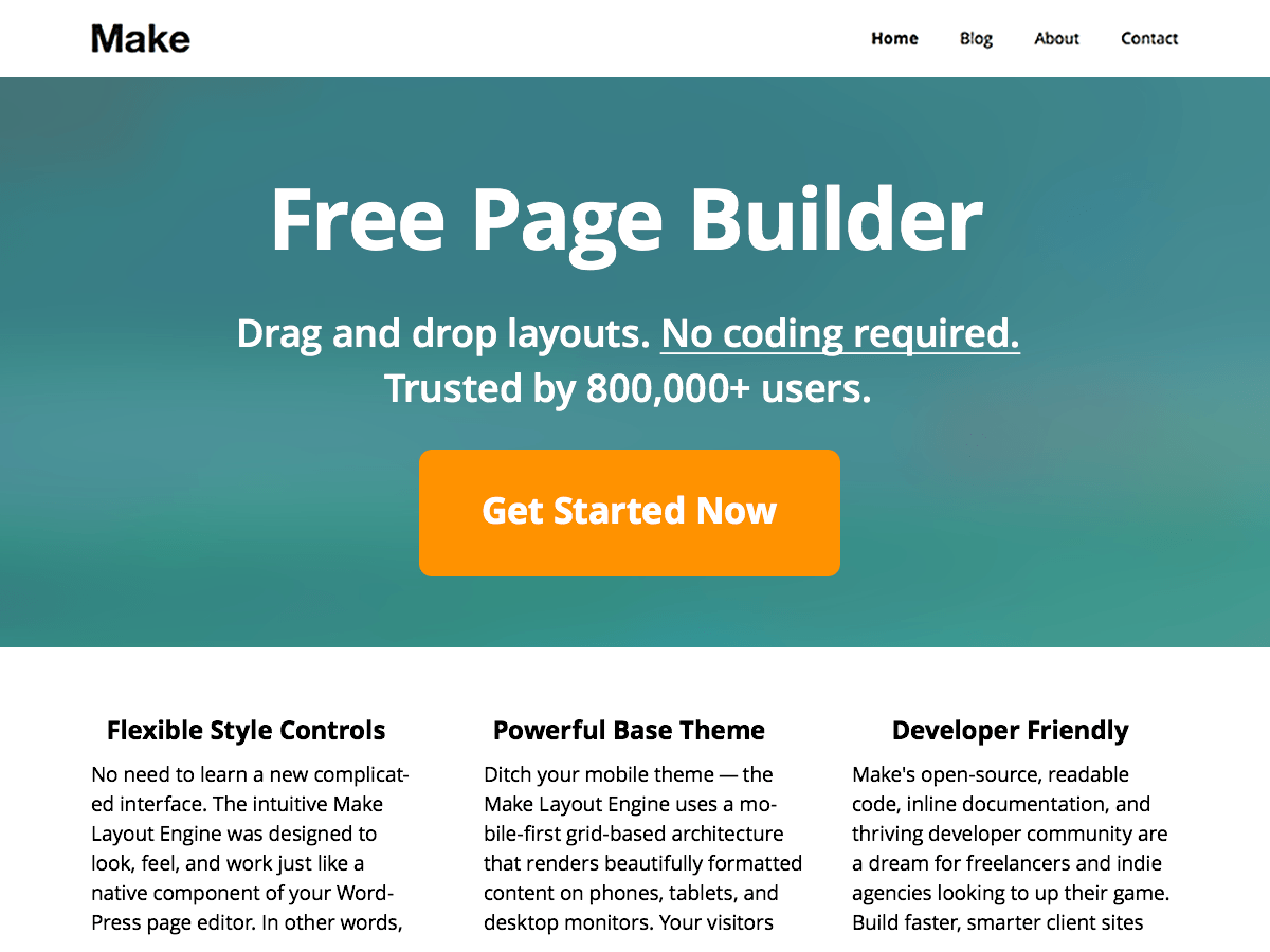 Make Download Free WordPress Theme