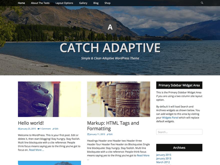 Catch Adaptive Download Free Wordpress Theme 2