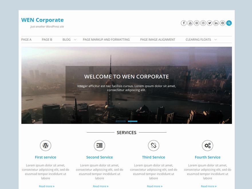 WEN Corporate Download Free Wordpress Theme 2