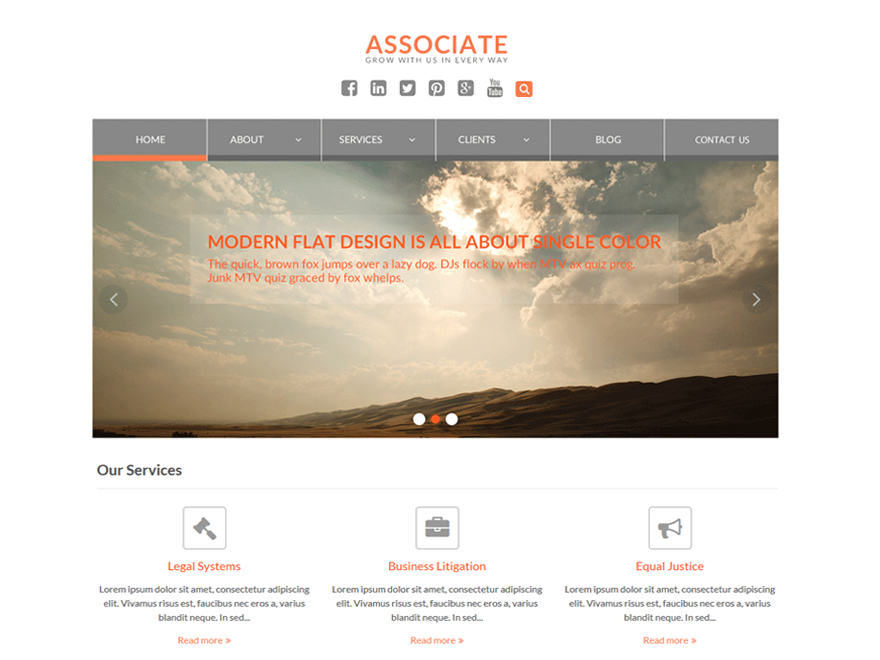 WEN Associate Download Free Wordpress Theme 5