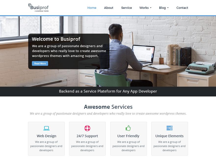 Busiprof Download Free Wordpress Theme 1