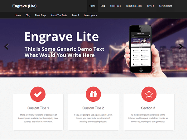 Engrave (Lite) Download Free Wordpress Theme 2