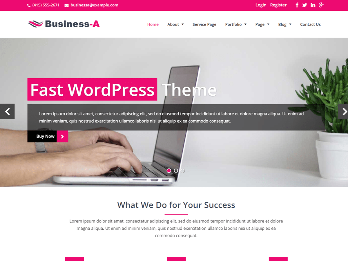 Business-A Download Free Wordpress Theme 3