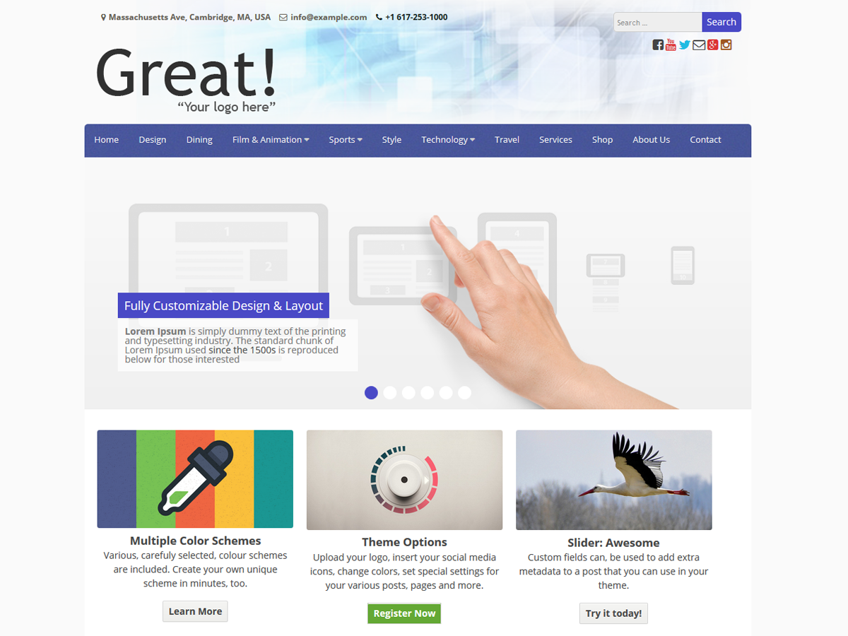 Great Download Free WordPress Theme