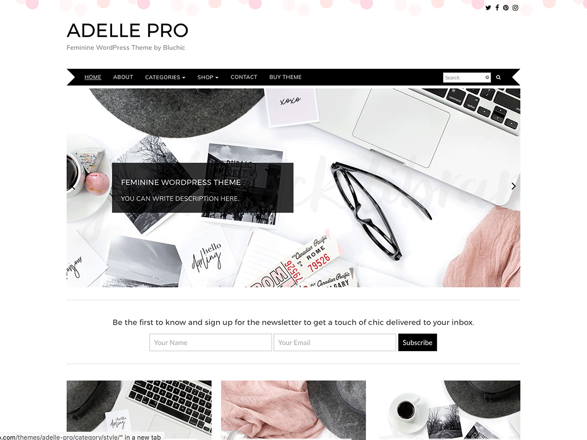 Adelle Download Free Wordpress Theme 2