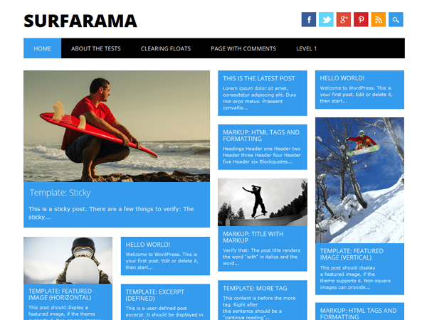 Surfarama Download Free Wordpress Theme 3