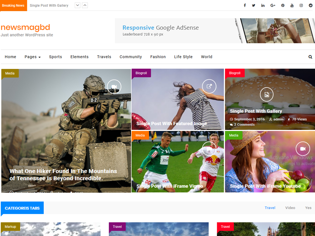 NewsMagbd Download Free Wordpress Theme 4