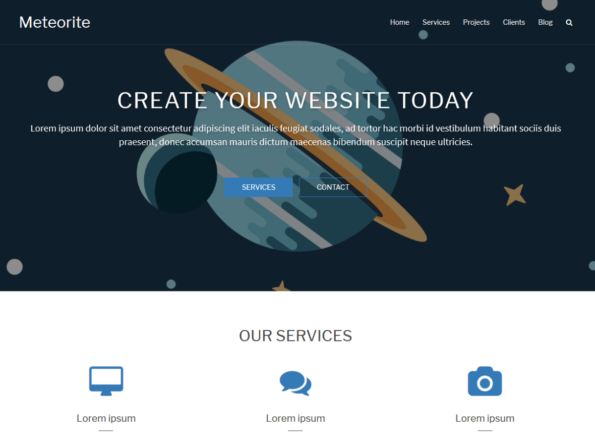 Meteorite Download Free Wordpress Theme 2