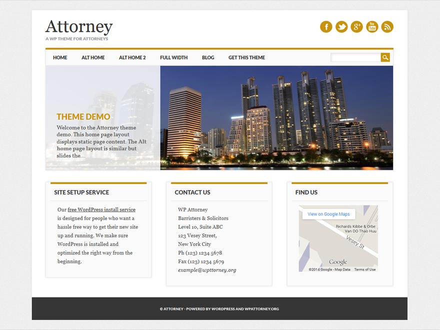 Attorney Download Free Wordpress Theme 1