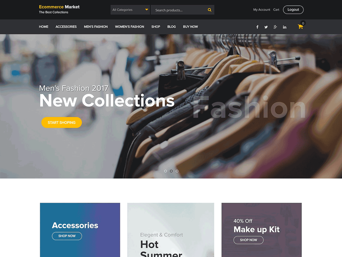 eCommerce Market Download Free Wordpress Theme 1