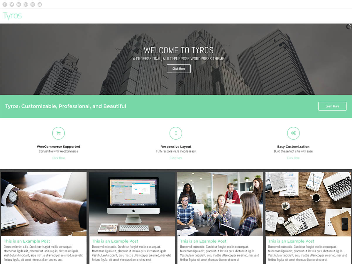 Tyros Download Free Wordpress Theme 5