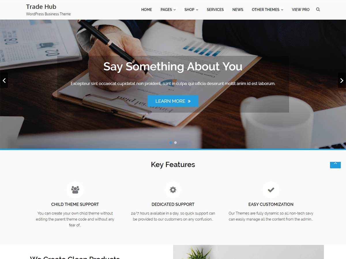 Trade Hub Download Free Wordpress Theme 3