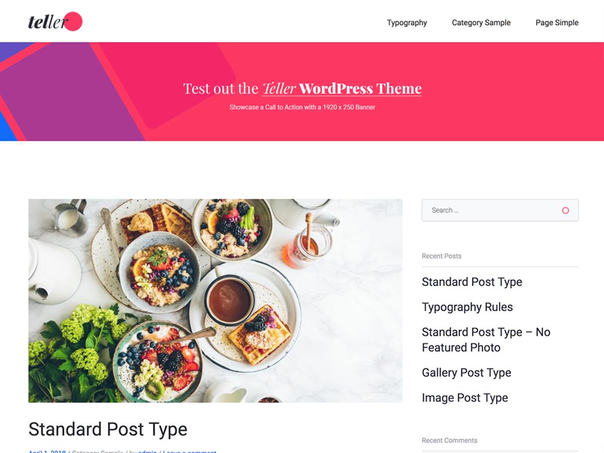 Teller Download Free Wordpress Theme 1