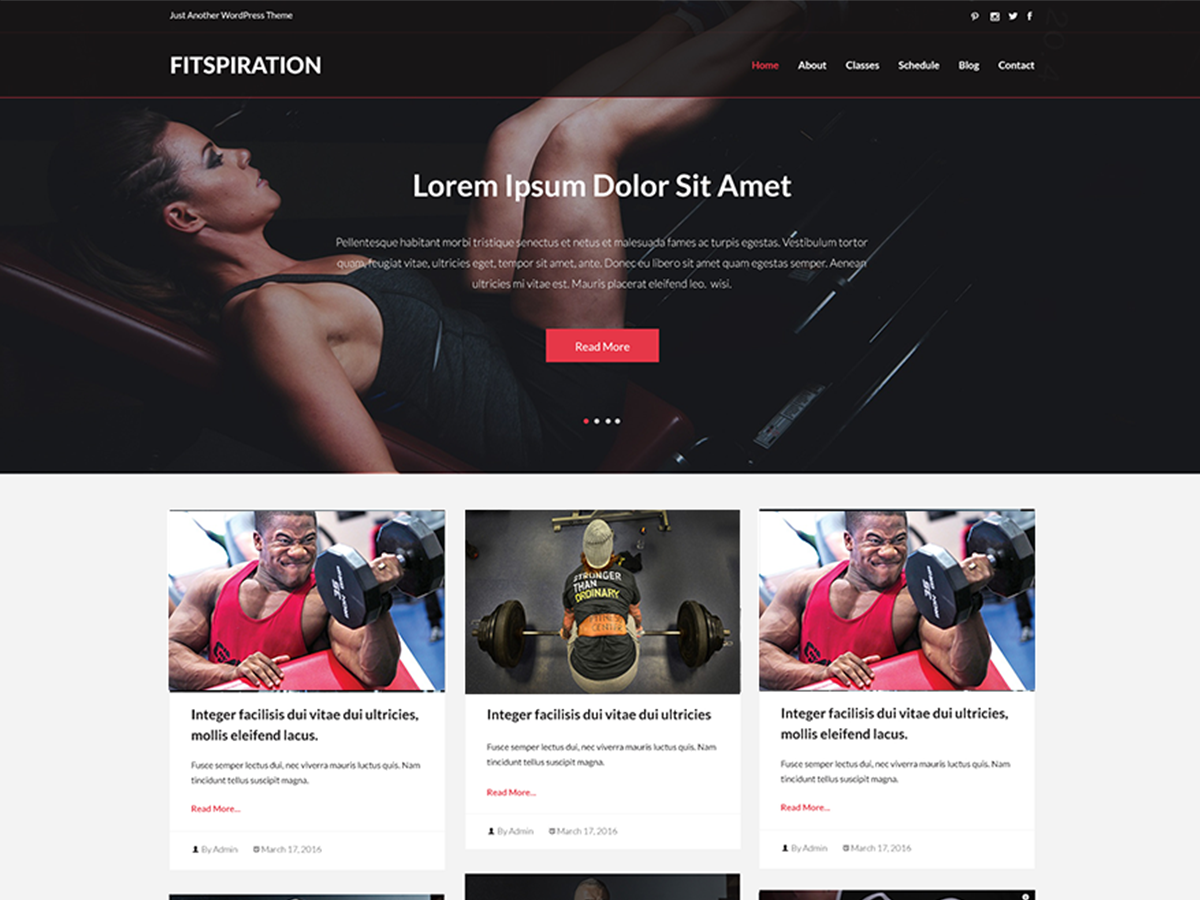 Fitspiration Download Free Wordpress Theme 3