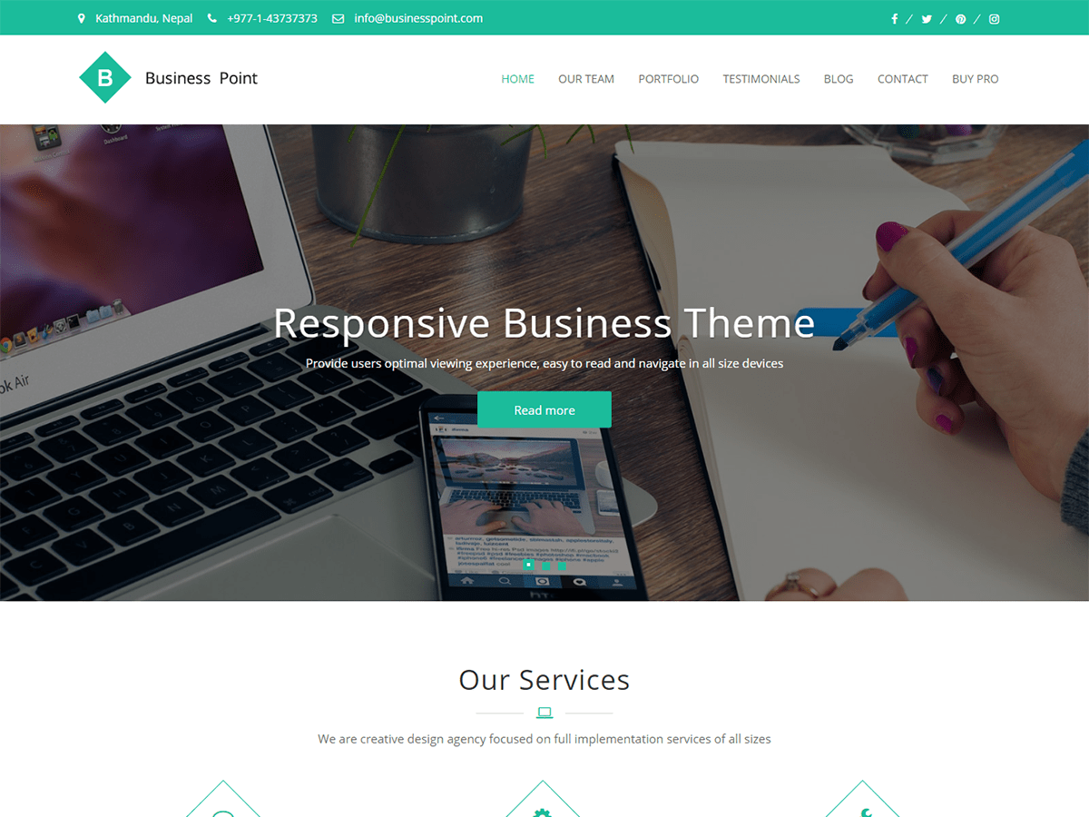 Business Point Download Free Wordpress Theme 2