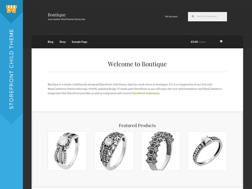 Boutique Download Free Wordpress Theme 3