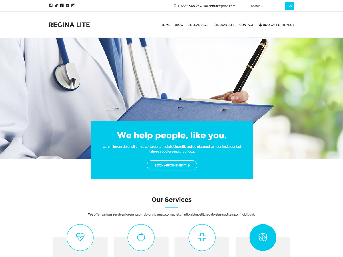 Regina Lite Download Free Wordpress Theme 4