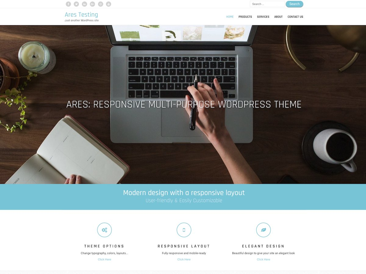 Ares Download Free Wordpress Theme 4